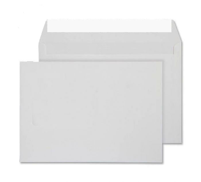162 x 229mm C5 Conqueror High White Wove Peel & Seal Wallet C01263