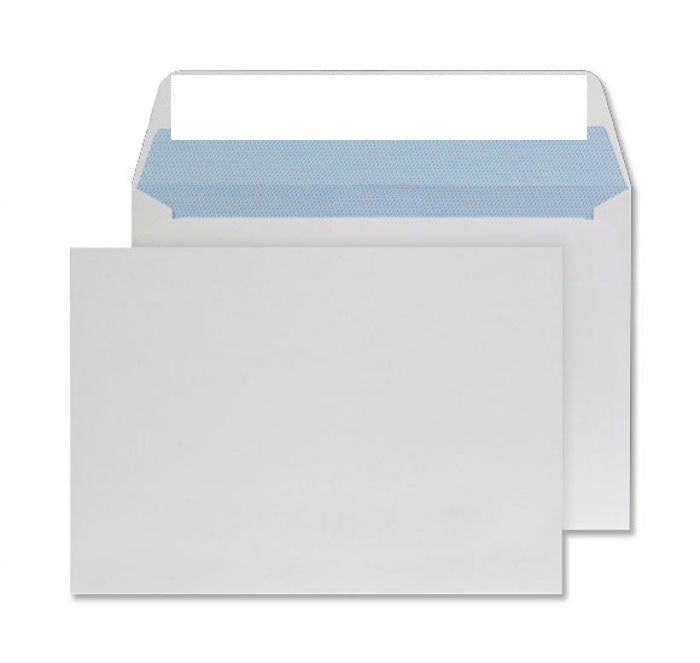 114 x 162mm C6 Conqueror Brilliant White Wove Peel & Seal Wallet C01510