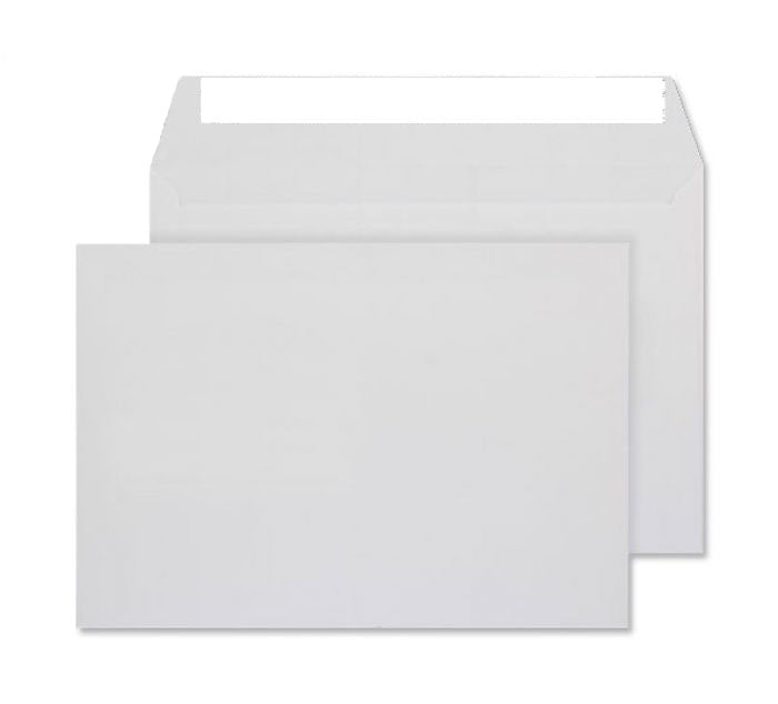 162 x 229mm C5 Conqueror Diamond White Laid Peel & Seal Wallet C01539