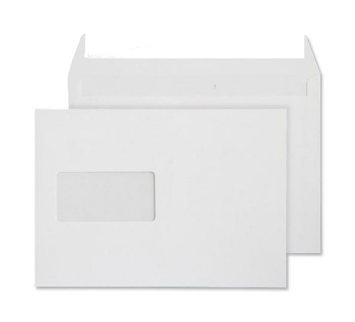 162 x 229mm C5 Conqueror High White Window Wove Peel & Seal Wallet [Pack 250] C01560