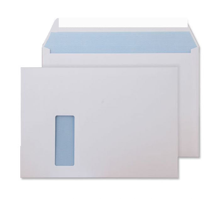 229 x 324mm C4 Conqueror High White Window Wove Peel & Seal Wallet [Pack 250] C01576