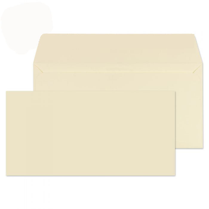 110 x 220mm DL Robson Cream Wove Peel & Seal Wallet C3215