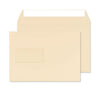 162 x 229mm C5 Robson Cream Window Wove Peel & Seal Wallet C3220