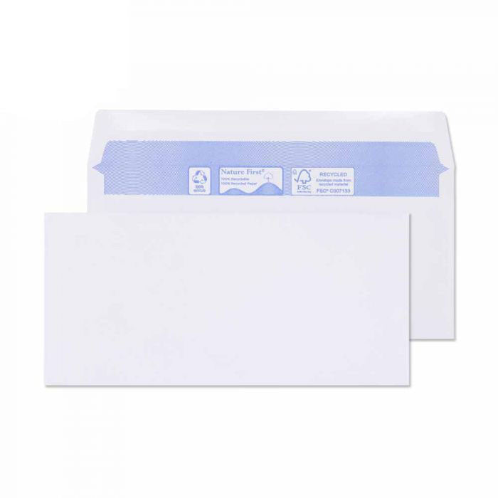 102 x 216mm  Tryfan Recycled White Gummed Wallet R3007