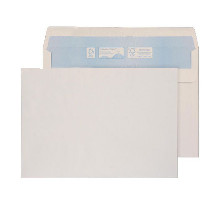 162 x 229mm C5 Tryfan Recycled White Self Seal Wallet R3413