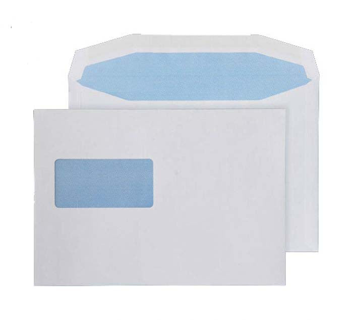 162 x 238mm  Pennine White High Window Gummed Wallet [Pack 500] W154