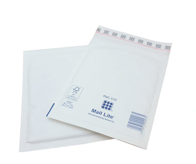 150 x 210mm  Mailite White Peel & Seal Padded Bags C/0