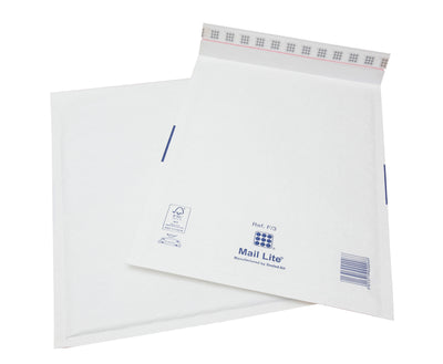 220 x 330mm  Mailite White Peel & Seal Padded Bags [Pack 50] F/3