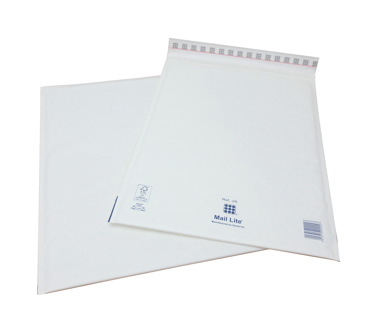 300 x 440mm  Mailite White Peel & Seal Padded Bags J/6