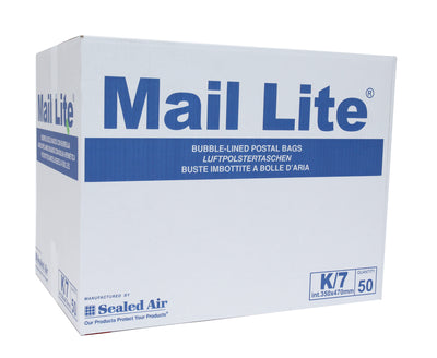 350 x 470mm  Mailite White Peel & Seal Padded Bags K/7