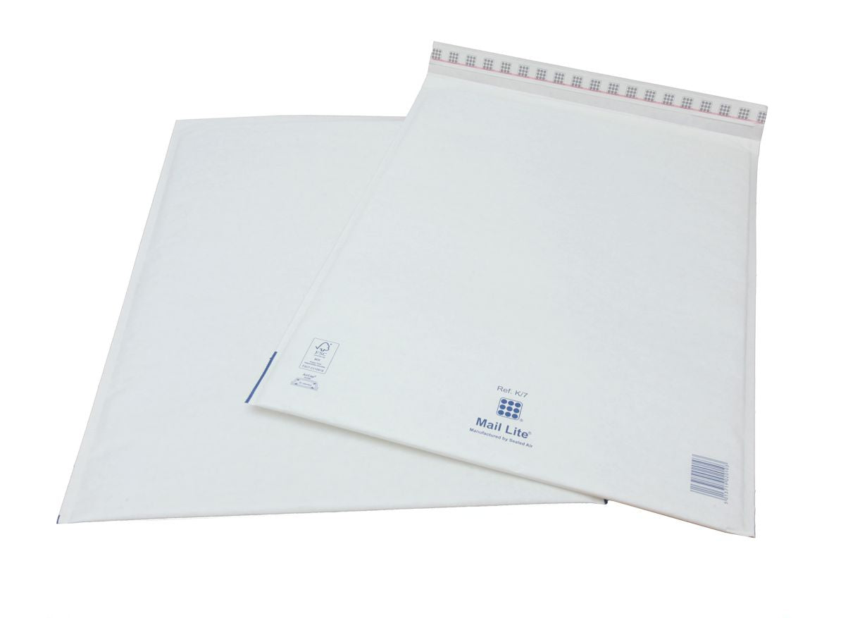 350 x 470mm  Mailite White Peel & Seal Padded Bags [Pack 50] K/7