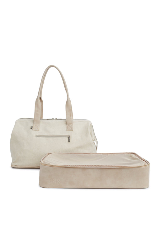 The Convertible Weekender in Beige