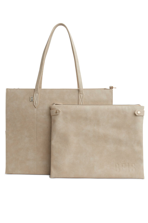 The Work Tote in Beige