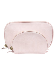 The Cosmetic Pouch Set in Sakura Pink