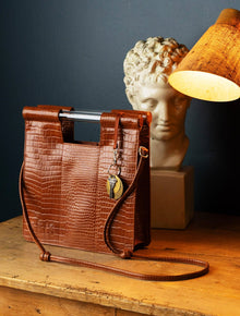 The Crossbody in Cognac Croc