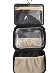 The Hanging Cosmetic Case in Black
