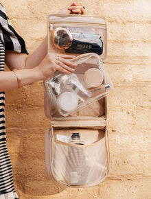 The Hanging Cosmetic Case in Beige