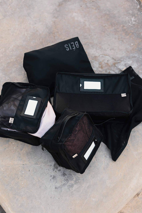 The Lingerie Packing Cube Set in Black
