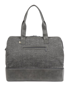 The Weekender in Charcoal Woven