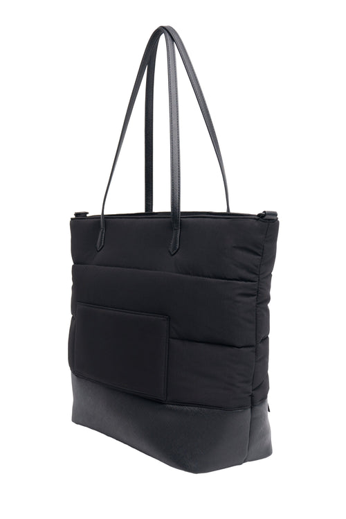 The Puffer Tote in Black