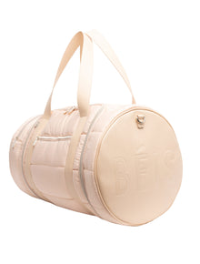 The Puffer Duffle in Beige