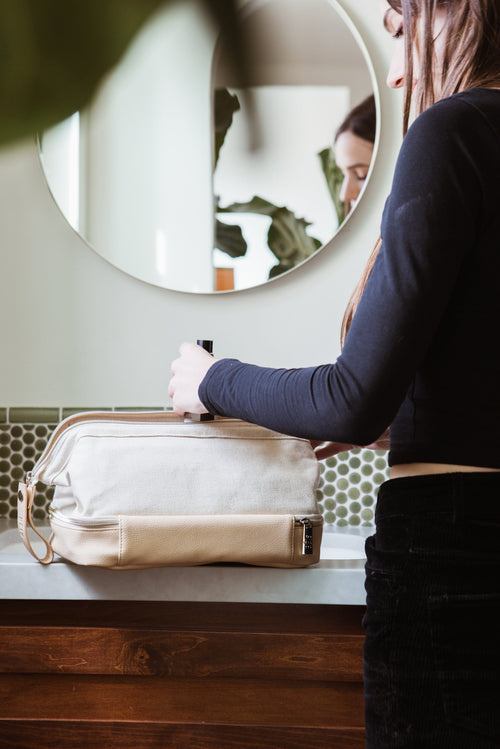 The Dopp Kit in Beige