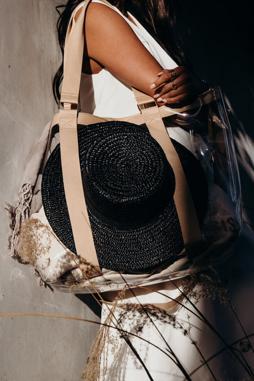 The Hat Tote in Beige