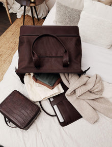 The Convertible Weekender in Espresso