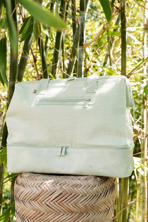 The Weekender in Matcha Green Woven