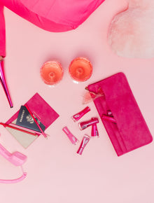 The Seatback Organizer in Magenta