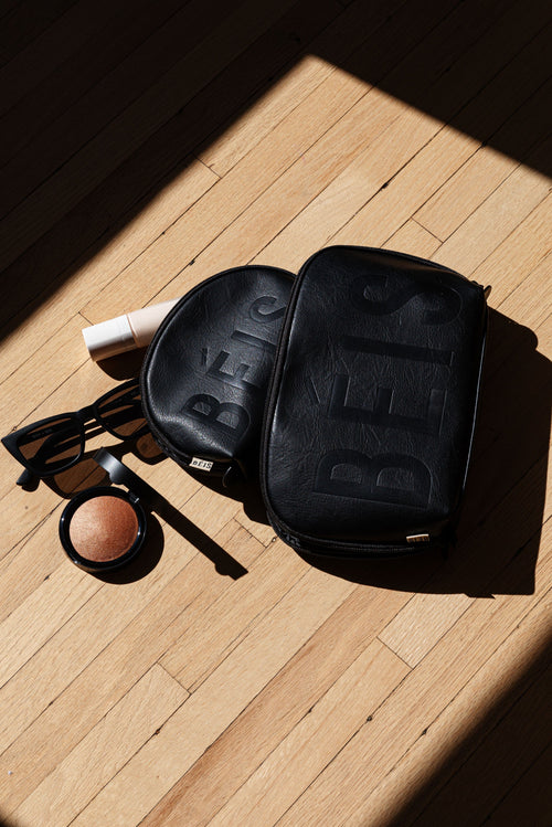 The Cosmetic Pouch Set in Black