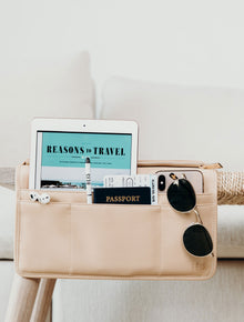 The Seatback Organizer in Beige