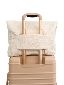 The Messenger Tote in Beige