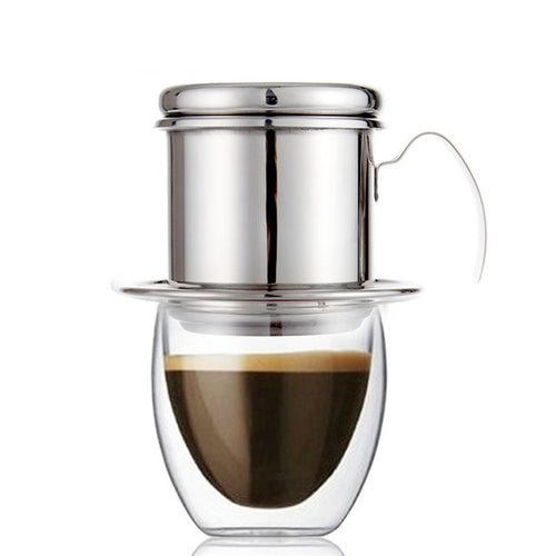 ROKENE Coffee Filter Press, Stainless Steel Vietnamese Coffee Filter Set Best Coffee Dripper for Home/Kitchen/Office/Outdoor