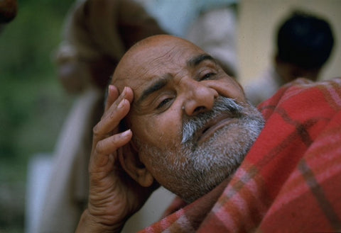 MAHARAJ-JI IN RED BLANKET #2