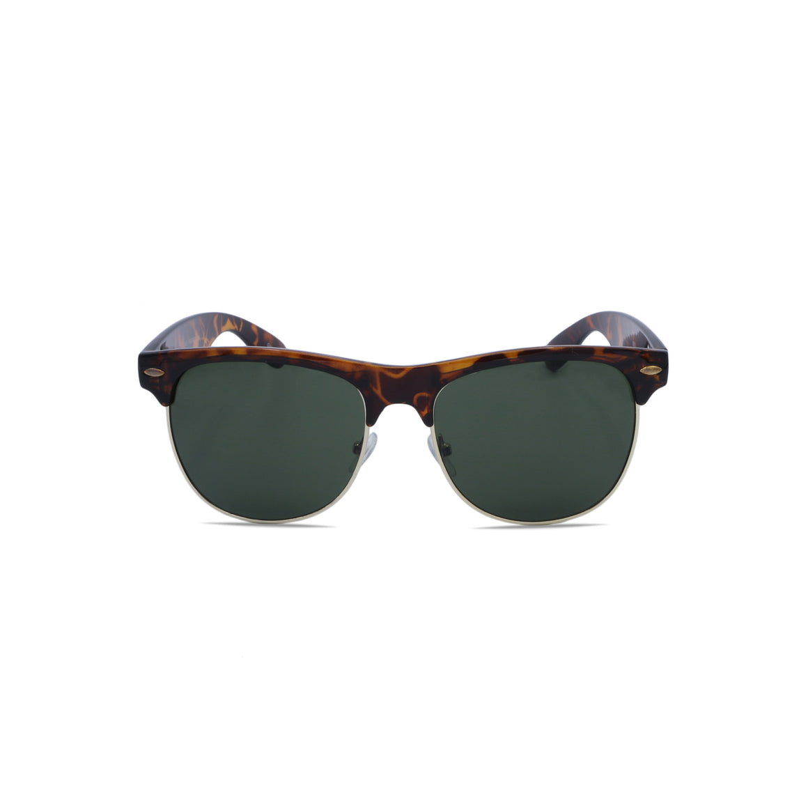 Club Master Sunglasses Square in Leopard Frame & Forest Green Lens