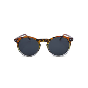 Designer Sunglasses Retro Round Hipster in Leopard Grey Color