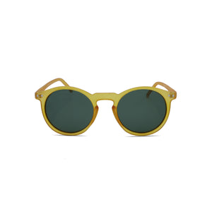 Designer Sunglasses Retro Round Hipster in Orange Forest Green Color