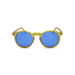 Designer Sunglasses Retro Round Hipster in Orange Blue Color