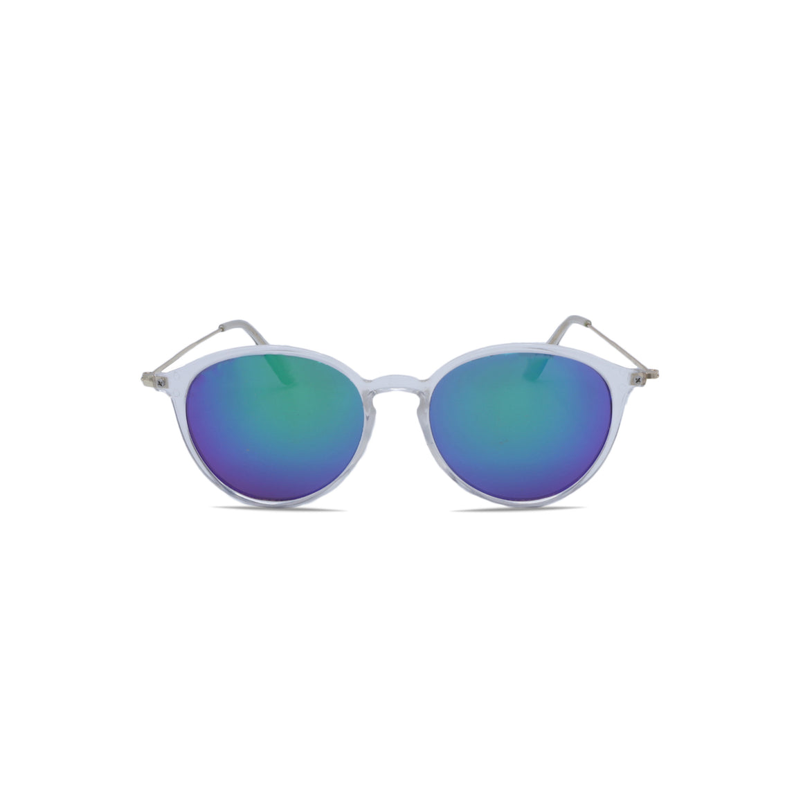 Designer Sunglasses Retro Vintage in Clear Blue Green Color