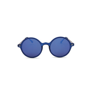 Hipster Sunglasses Retro Round in Blue Color
