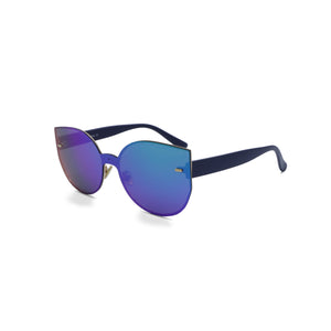Rimless Sunglasses Butterfly in Blue Green Color