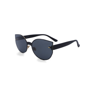 Rimless Sunglasses Butterfly in Black Grey Color