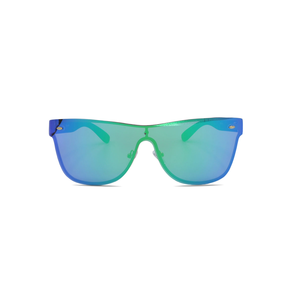 Rimless Sunglasses Gradient Lens in Blue Gradient Green Color