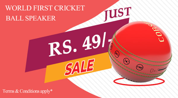 Cricket ball ORB Speaker at the small price of 49/- only.