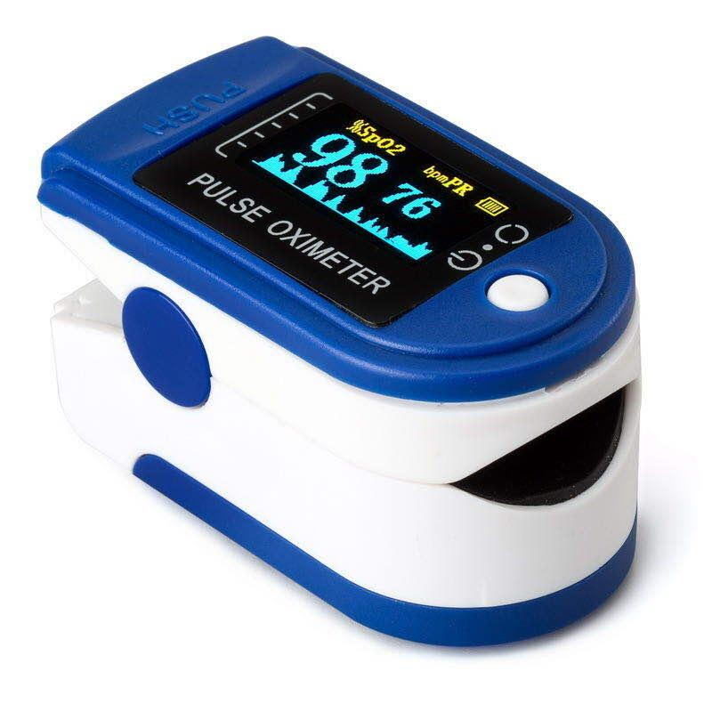Combo Pulse Oximeter + KN95 Mask (Pack of 10)