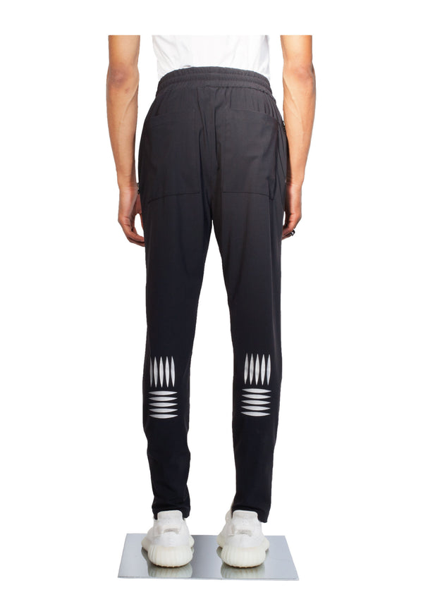 Checker Plate Track Pants - Black - Back - CHROMABLE Paris SS19 - Cosy Unisex Track Pants