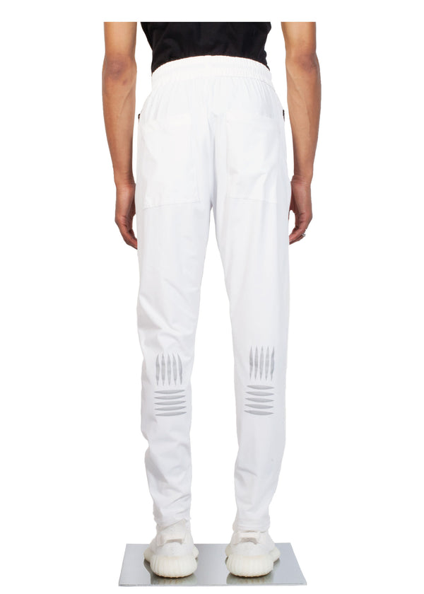 Checker Plate Track Pants - White - Back - CHROMABLE Paris SS19 - Cosy Unisex Track Pants