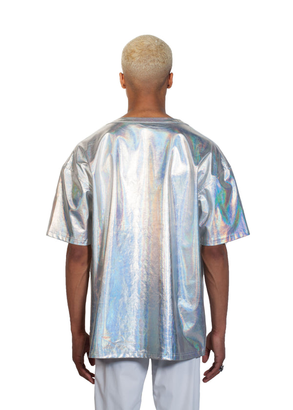 Chromatic T-shirt - Back - CHROMABLE Paris SS19 - Iridescent and chrome unisex t-shirt