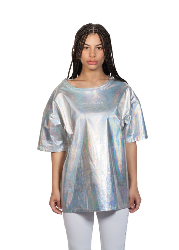 Chromatic T-shirt - Front - CHROMABLE Paris SS19 - Iridescent and chrome unisex t-shirt